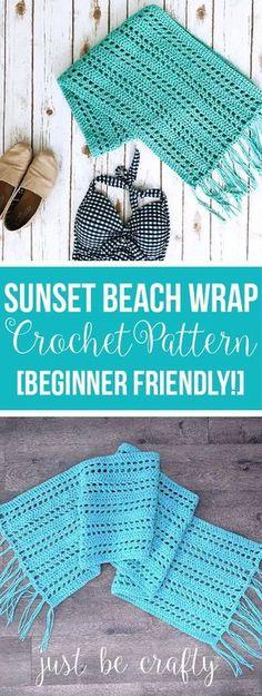 Sunset Beach Wrap Crochet Pattern - Free crochet pattern by Just Be Crafty