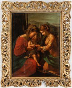 Quadro pintado a oleo depois de Raphael do sec.19th, 71cm X 56,5cm, 6,100 USD / 5,720 EUROS / 22,980 REAIS / 38,970 CHINESE YUAN soulcariocantiques.tictail.com