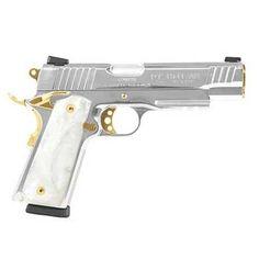 Taurus Model 1911 Semi Automatic Handgun .45 ACP 5 Barrel 8 Rounds Black Checkered Plastic Grips Stainless Steel Finish