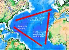 De driehoekshandel of driehoeksvaart was de handel tussen Europa, Amerika en Afrika. Ze werd onder andere bedreven door de Nederlandse West-Indische Compagnie. Schepen vertrokken uit West-Europa met als handelswaar vooral vuurwapens, buskruit, ijzer en textiel. Die werd in West-Afrika met de plaatselijke machthebbers geruild voor slaven, goud en ivoor.
