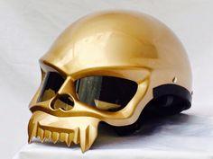 Masei 429 & 489 Skull Face Chopper Harley Davidson Helmets in Picture Shooting - sales@maseihelmets.com