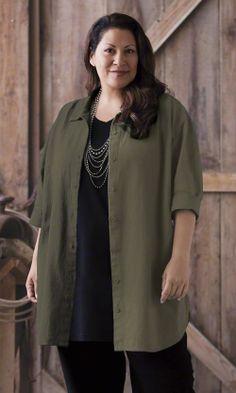 6d0fe92d21d Classic Cotton Oversize Shirt   MiB Plus Size Fashion for Women Stylish Plus  Size Clothing