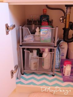 DIY by Design: Under Sink Storage Solutions Buy pull out containers at Bed Bath & Beyond