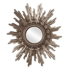 Howard Elliott 84008 Chelsea Antique Starburst Mirror, Silver. Features a drastic multi-layered sunburst effect. Finished in a lovely antique silver. Dimensions: 20-inch by 26-inch by 2-inch. High-style design and high-end materials. Product is carefully packaged to ensure low damage rates.