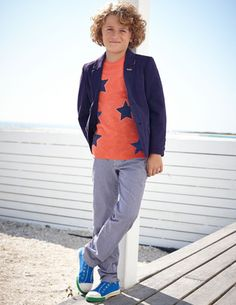 I've spotted this @BodenClothing Blazer  INDIGO/ECRU 5-6y?