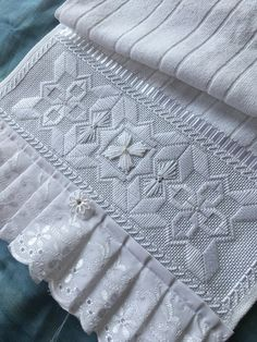 silk ribbon embroidery designs and Hardanger Embroidery, Silk Ribbon Embroidery, White Embroidery, Embroidery Stitches, Embroidery Patterns, Bargello Patterns, Swedish Weaving, Drawn Thread, Storage Design