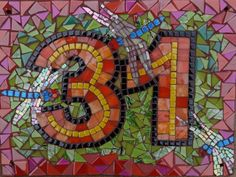 mosaic house numbers - Google Search