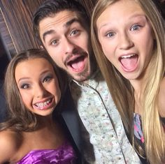 Autumn Miller and Sophia Lucia with Ricky ubeda! I met him once too!!!