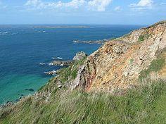 Het meest noordelijke eilanden van de Kanaaleilanden