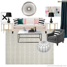 Moodboard inspired by my living room - Cuckoo4Design