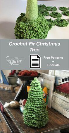Crochet Christmas Decorations, Christmas Tree Pattern, Crochet Christmas Ornaments, Christmas Crochet Patterns, Holiday Crochet, Crochet Tree, Knit Or Crochet, Crochet Crafts, Yarn Crafts
