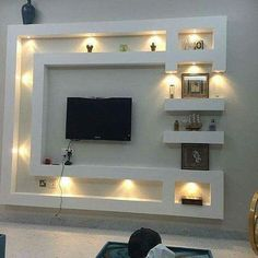 Décoration Tv Wall Design, House Ceiling Design, Wall Unit Designs, Tv Room Design, Living Room Design Modern, Living Room Tv Unit Designs, Wall Design, Wall Tv Unit Design, Tv Wall Decor
