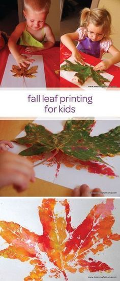 Fall Leaf Prints - Meaningfulmama.com