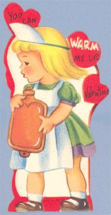 Vintage Valentine: 'Nurse with Hot Water Bottle'