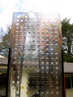 Exhibition Panel : 'Squares', Textured Glass, Lustre, Silverstain....Mark Howard Glassworks ; Melbourne