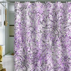 Kardashian Kollection Home -Spanish Harlem Purple Shower Curtain ...