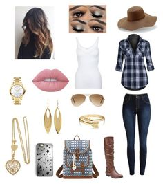 """~Fall Cute~"" by solieldawnmarie on Polyvore featuring Hanro, Fergalicious, Bandana, Rianna Phillips, Ray-Ban, Peter Grimm, Movado, Kenneth Jay Lane, Bling Jewelry and Lime Crime"