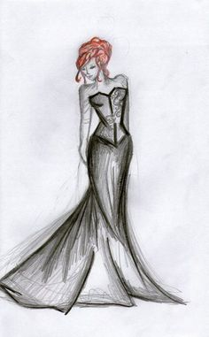 Image result for shadowhunter wedding dress drawings