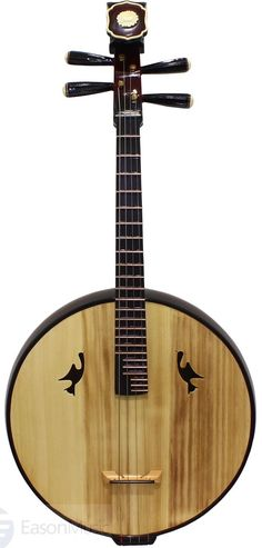 frettedchordophones: Chinese Ruan or Moon Lute (western name for it) - this one is a DaRuan the Bass in the family. Its tuned DAda and is made by Song Guang Ning =Lardys Chordophone of the day - a year ago --- https://www.pinterest.com/lardyfatboy/