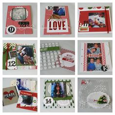 Super cute & festive December Daily album made with mambi POCKET PAGES cards.