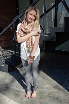 Barefoot Celebrities: Emily Osment walking barefoot in public