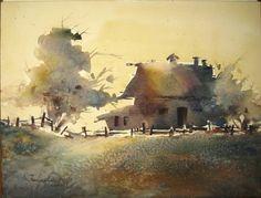 "Fealing Lin Watercolor: ""Corsica Sunset"""