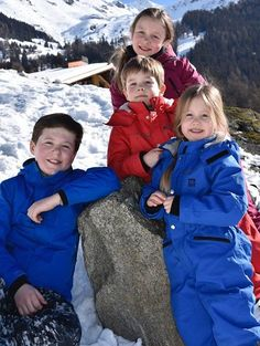 Danish Crown Prince Family Skiing Holiday in Verbier 2017