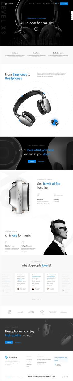 Atomlab is a clean and modern design responsive multipurpose #WordPressTemplates for single #product showcase website with 24+ niche homepage layouts to download & live preview click on image or Visit #webdesign