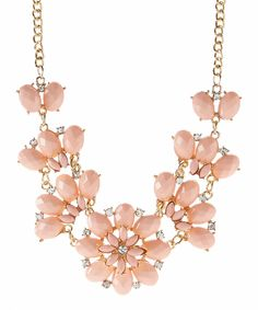 Look at this Valshi Coral Floral Cluster Necklace on #zulily today!