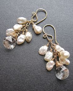 Cosmopolitan Keshi pearl earrings