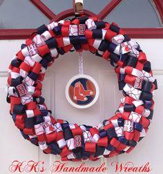 Boston Red Sox Wreath via Etsy