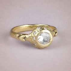 Ophelia ring #engagementrings #wedding http://www.roughluxejewelry.com/