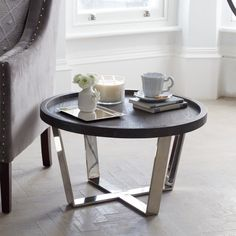 Berlin Oak Round Side Table