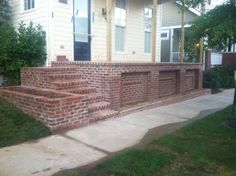 Brick front porch By Sparks Masonry New Albany IN