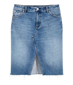 402f381848 Denim Skirt | H&M Denim Washed Denim, Blue Denim, Jean Skirt, Denim Skirt