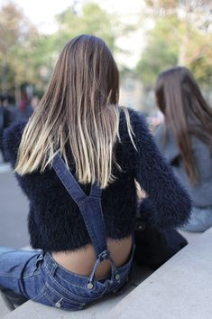 Denim in street style. Paris Fashion Week Spring 2015. #PFW [Photo by Kuba Dabrowski]
