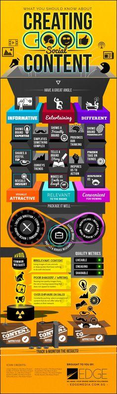 Was du über guten #SocialMedia #Content wissen solltest [infographic]: