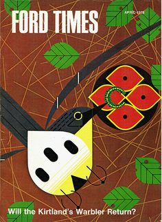 """Ford Times"""" with Charley Harper illustration, 1978."""