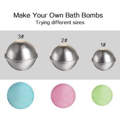 Bath & Shower Glorious 6 Pcs Organic Bath Bombs Bubble Bomb Mould Aluminum Ball Shape Diy Bathing Tool Accessories Creative Mold