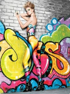 Hot Graffiti & Body Art - Mr Pilgrim Street Art Online #streetart #graffiti #urbanart #bodyart www.mrpilgrim.co.uk