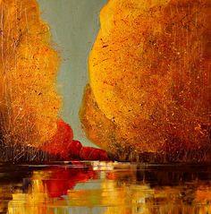 River Painting - Justyna Kopania