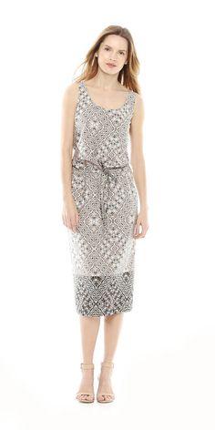 Kaleidoscope Snake Print Dress from Joe Fresh.  Only $29.