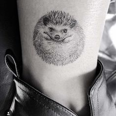 hedgehog tattoo on ankle