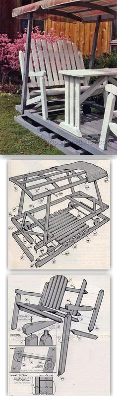 Lawn Glider Plans - Outdoor Furniture Plans and Projects | WoodArchivist.com