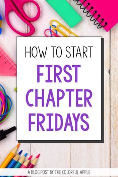 A great way to introduce new books to your kids!  Every Friday, read aloud just the first chapter of your book to get your students intrigued and wanting to read more!  This blog post has more info and a free book list to get you started!  Engage even your most reluctant readers with this tip for upper elementary and middle school teachers.