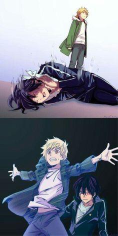 Noragami Yukine and Yato Character Development Anime Noragami, Manga Anime, Art Manga, Fanarts Anime, Otaku Anime, Anime Art, I Love Anime, Anime Guys, Neue Animes