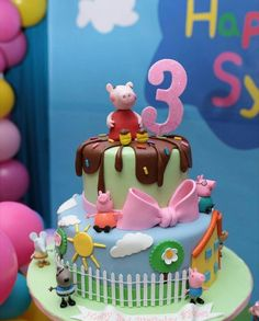 Diy Party, Party Ideas, Pig Cakes, Peppa Pig, Birthday Cake, Desserts, Food, Tortilla Pie, Pastries