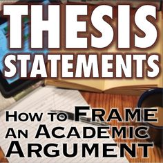 Jerz > Writing > Academic > A thesis statement is the single, specific claim that your essay supports. A strong thesis answers the question you want to raise; it does so by presenting a to...