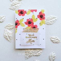 Simple vellum greeting overlay, secured with washi tape.