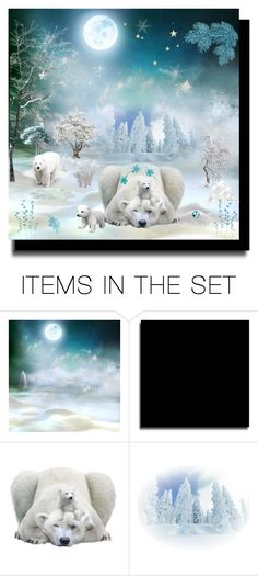 """""""Love Polar Bears!"""" by cindy-for-fashion ❤ liked on Polyvore featuring arte"""